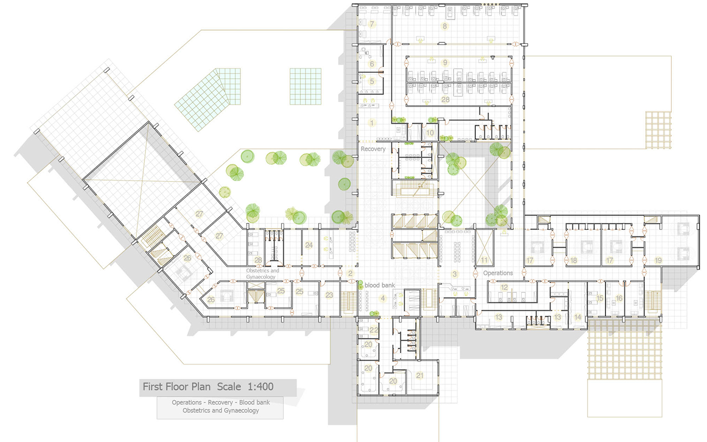 Graduation Project 03 General Hospital By Ibrahem Omar Architecture Design Sketchup Dwg