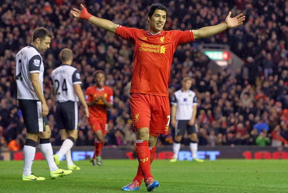 Luis Suárez has now scored 11 times in his last four appearances for Liverpool against Norwich