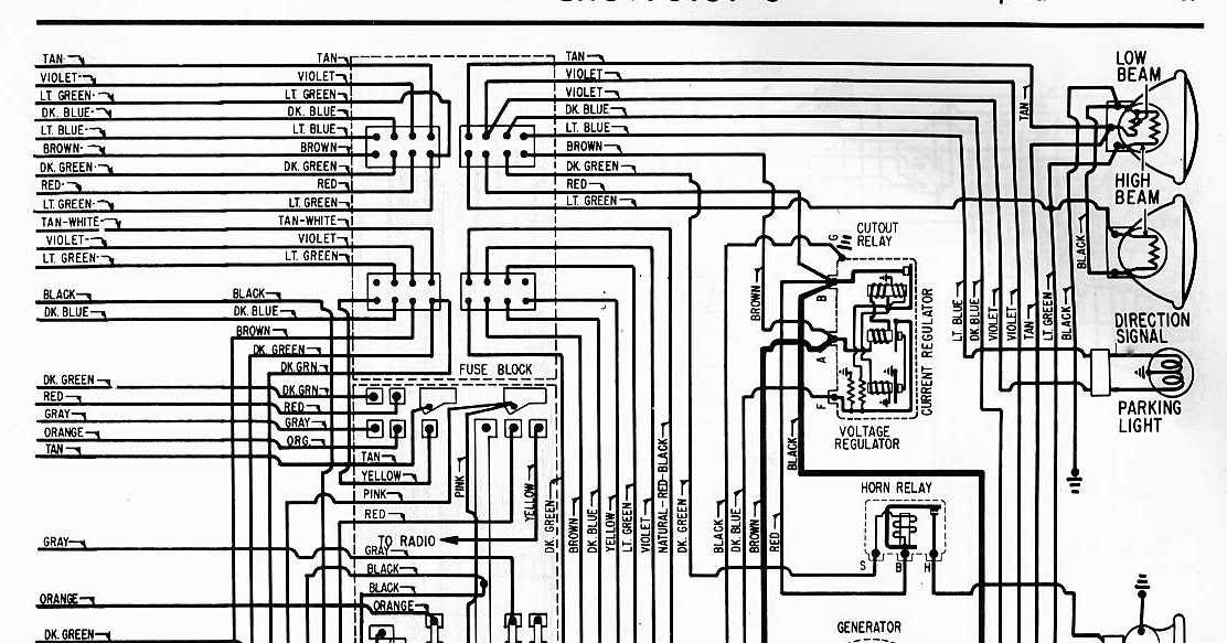 electrical wiring diagram of 1962 chevrolet 6 all about