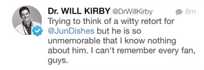 Dr. Will Kirby Twitter Jun Song