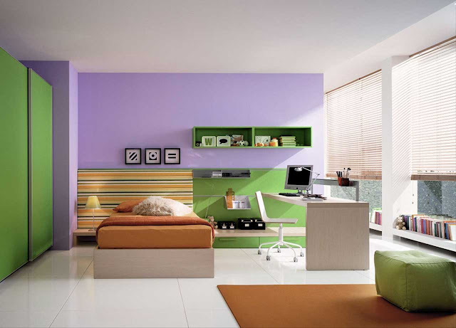 Extraordinary-Kid-Bedroom-Design-And-Modern-Kids-Room-With-Square-Green-Couch-On-The-Brown-Carpet-With-Kids-Room-Furniture-Loft-Style-Bed