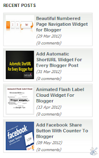 Animated Scroll Recent Posts With Thumbnails For Blogger