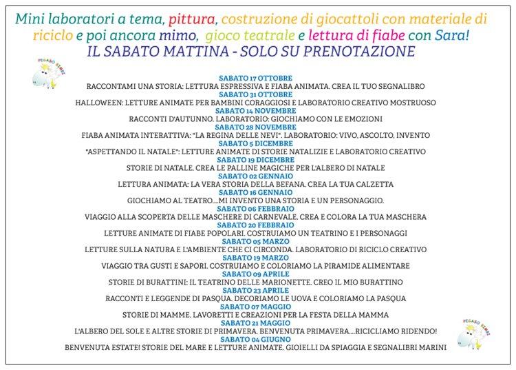 CALENDARIO LABORATORI 2015/2016