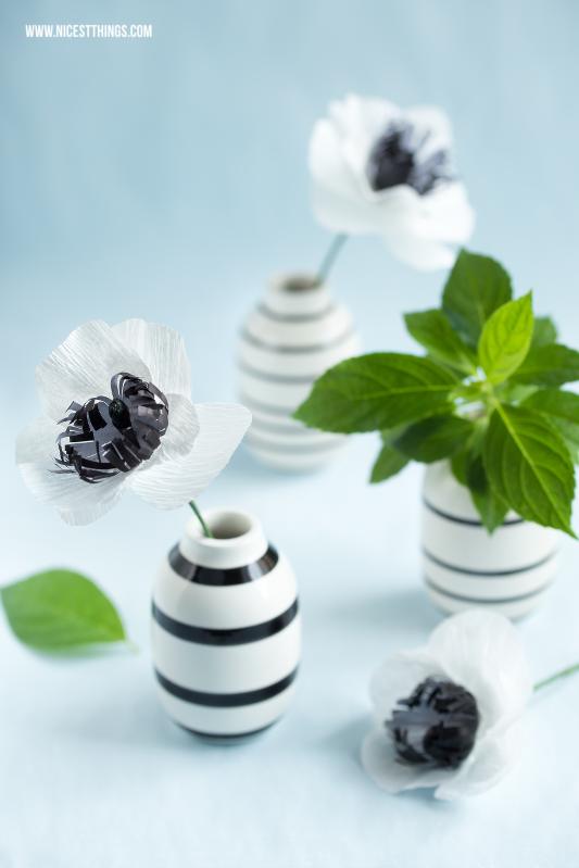 DIY paper flowers anemones