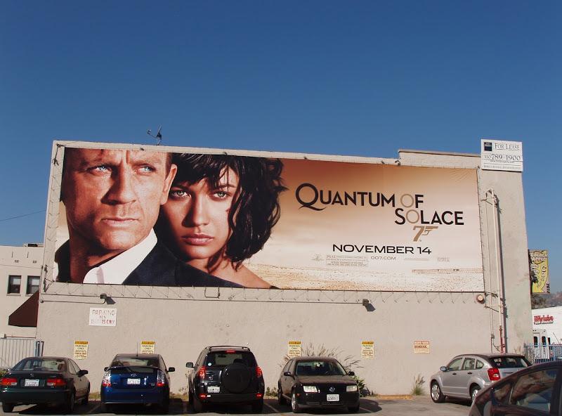 Quantum of Solace 007 movie billboard