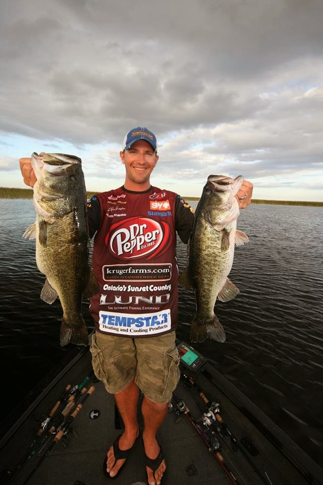 Ibassin flw pro jeff gussy gustafson with lund boat at for Open bass fishing tournaments