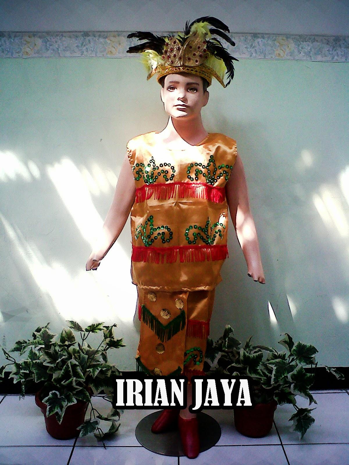 Baju adat Papua Anak Putra