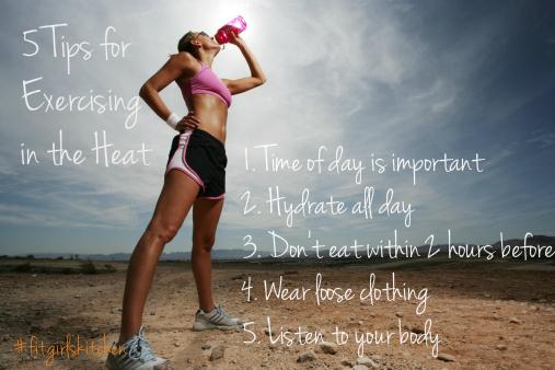 exercising in summer heat