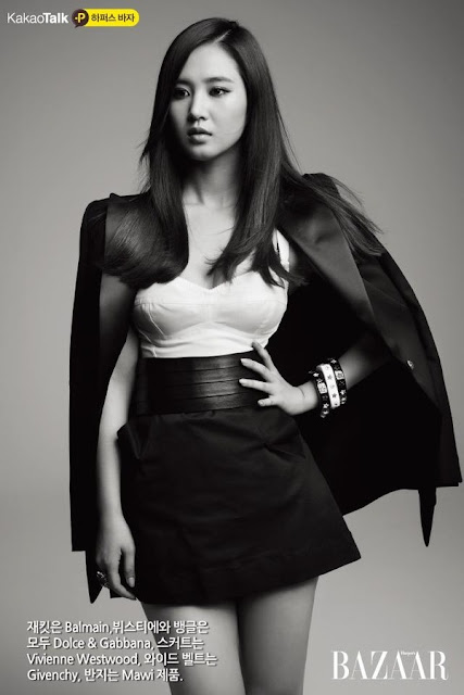 [PICTURE] SNSD Yuri for Bazaar Magazine (KAKAOTALK)