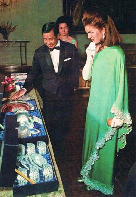 Jacqueline Kennedy in Valentino, 1967