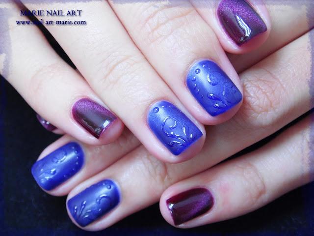 nail art avec semi-permanent effet oeil de chat4