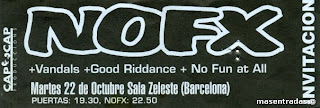 entrada de concierto de nofx