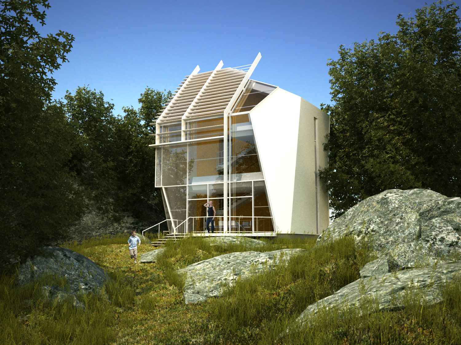Eco House New Visual on architectural design building