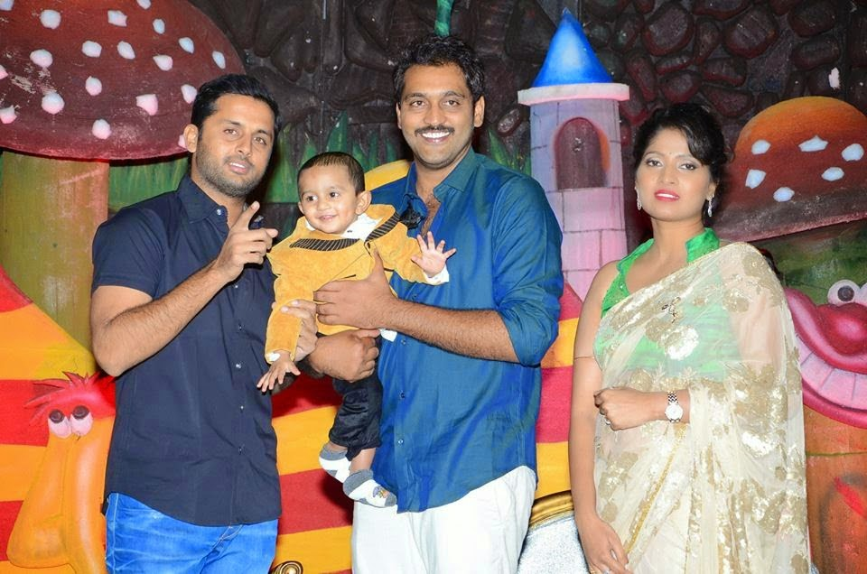Nitin Latest Stills At Ajay Son Birthday Celebrations