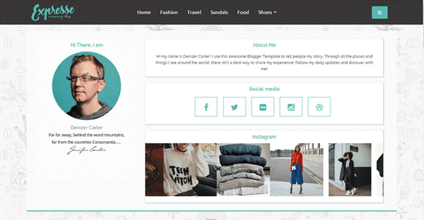 Expresso Blogger template
