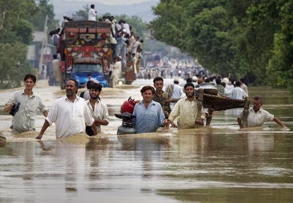 440 MUERTOS POR INUNDACIONES Y DESLAVES EN INDIA Y PAKISTAN, 9 de Septiembre 2014