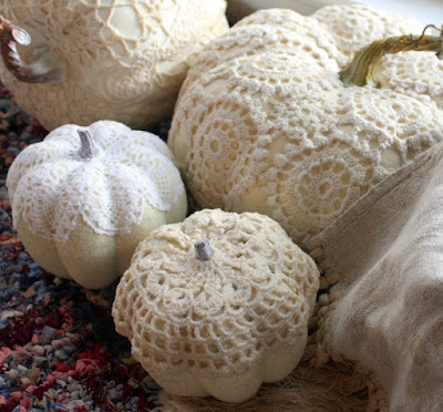 Crochet Covered Pumpkins