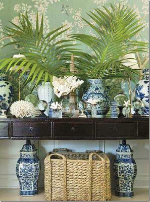 Blue And White Chinese Porcelain Vases Ginger Jars
