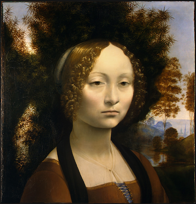 "Painting ""Ginevra de' Benci"" by Leonardo da Vinci, 1474-1478"