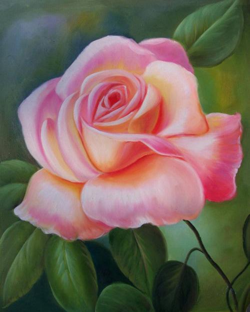 Nghệ thuật vẽ tranh hoa bằng sơn dầu - tranh hoa sơn dầu