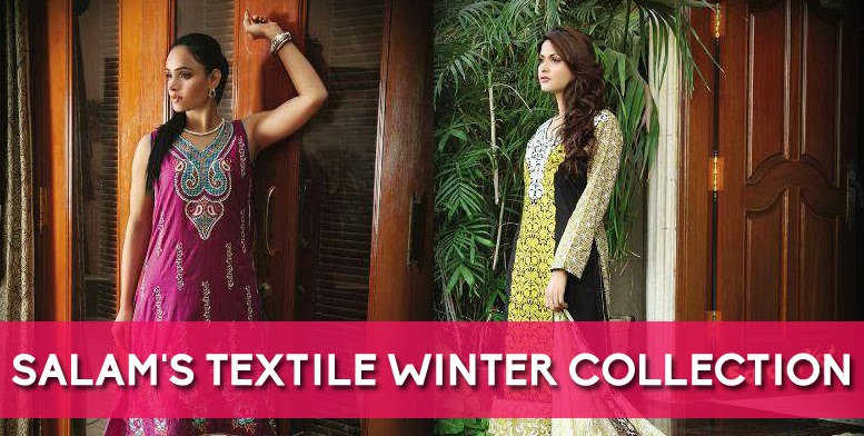 Latest Formal Wear Winter Dresses 2013 14 By Salams Textile New