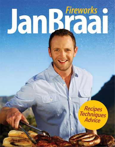 Jan Braai, book cover, Fireworks , Pan Macmillan , South Africa, book, win
