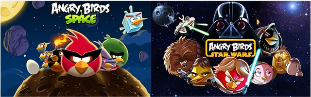 Angry Birds Space and Star Wars for Windows Phone 7