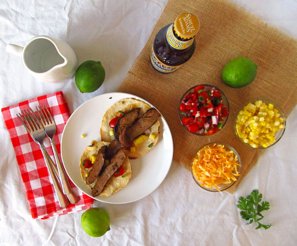 Grilled Flank Steak Tacos with Grilled Corn
