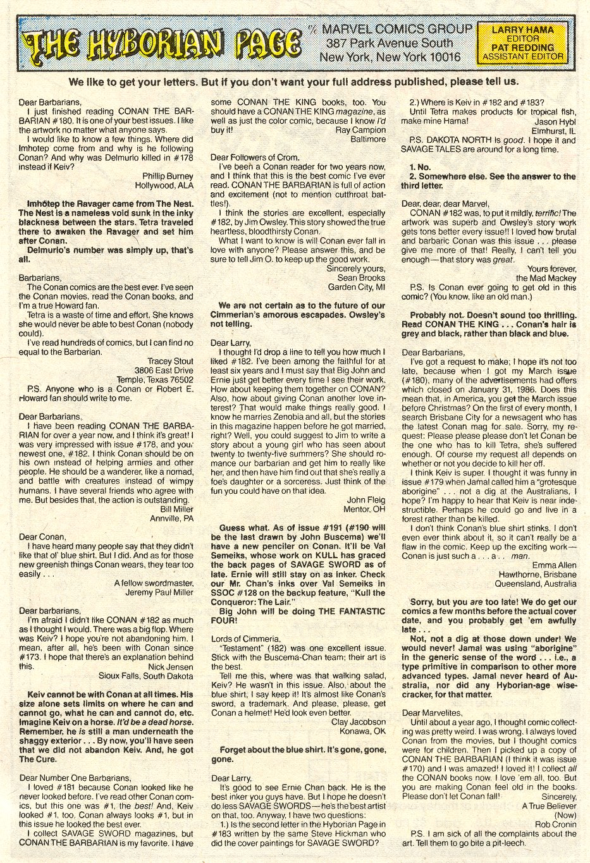 Conan the Barbarian (1970) Issue #187 #199 - English 25