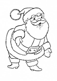 Cute Picture of Santa Clause for Kids Colouring during Christmas Vacation