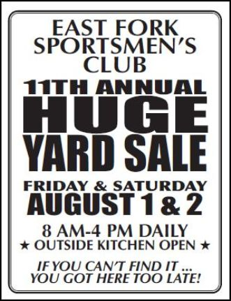 7-31/8-1 HUGE YARD SALE,Wharton, PA