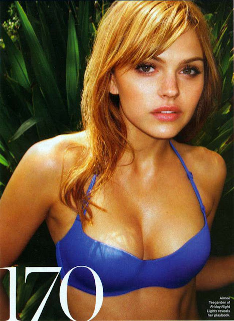 Aimee Teegarden sexy in swimsuit