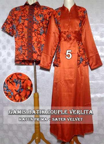 Model Gamis Batik Couple Muslim Modern Gaya Terbaru Harga