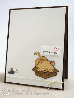 Kitty card using Newton's Antics by Jennifer Ingle for Newton's Nook Designs