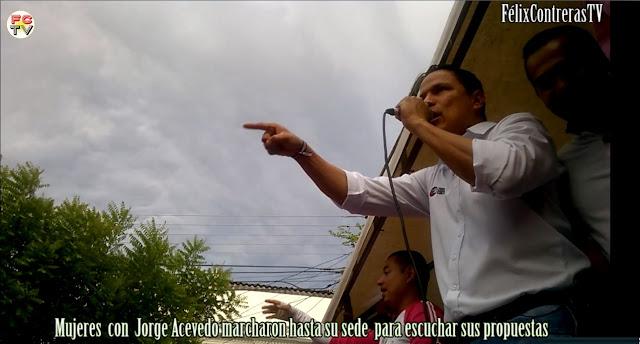 Miles de mujeres evidencian triunfo de Jorge Acevedo este domingo 25Oct2015 « video ☼ FélixContrerasTV