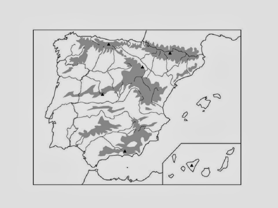 Tenerifitocandelariero Mapa mudo fsico de la Pennsula Ibrica