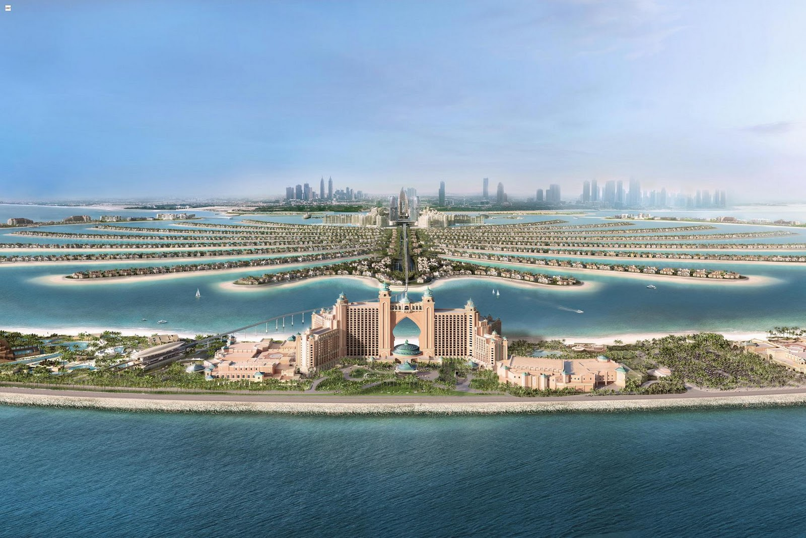 Palm jumeirah dubai for Hotel de dubai
