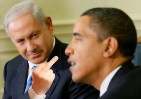 Benjamin Netanyahu gives Barack Obama the 'Middle Finger'
