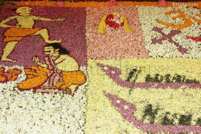 Pretty India Images -Athapookolam- a Floor art by Flowers