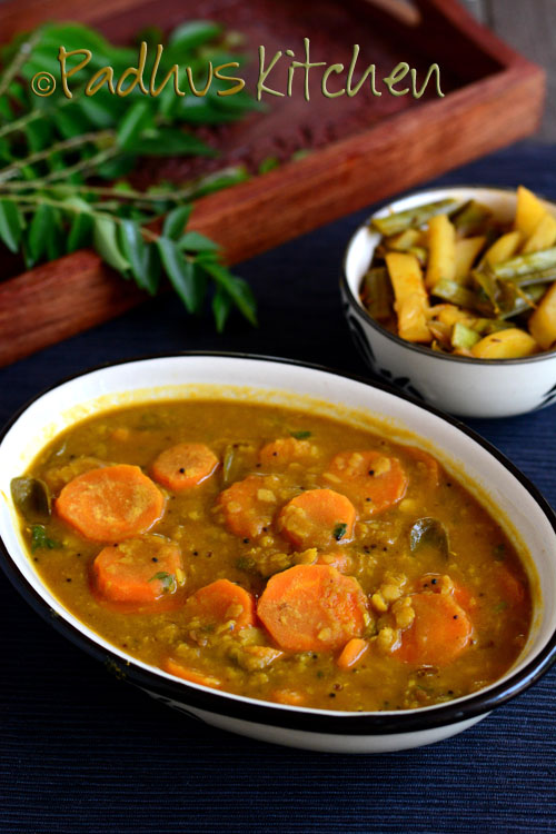 Carrot sambar recipe no onion no garlic carrot sambar padhuskitchen carrot sambar iyer style no onion no garlic forumfinder Choice Image