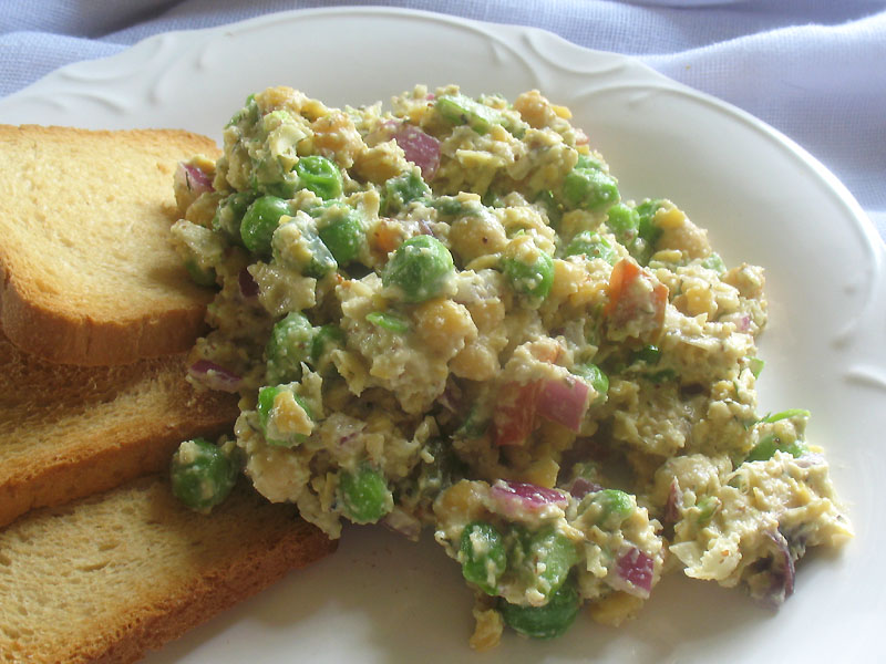 Chickpea salad with vegan mayonnaise lisa 39 s kitchen vegetarian recipes cooking hints - Mayonnaise without eggvegan recipes ...
