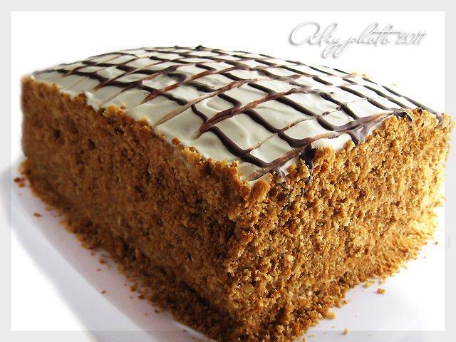 медовик тортик рецепт на сковороде без маргарина