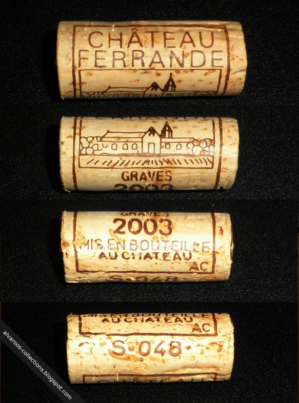 Wine cork: Chateau Ferrande, Graves 2003