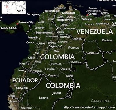 Vista aérea de COLOMBIA, BING 2012