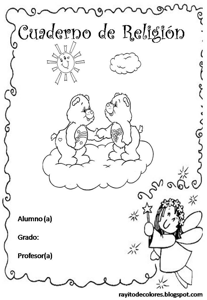 Carátula para cuaderno de Religión