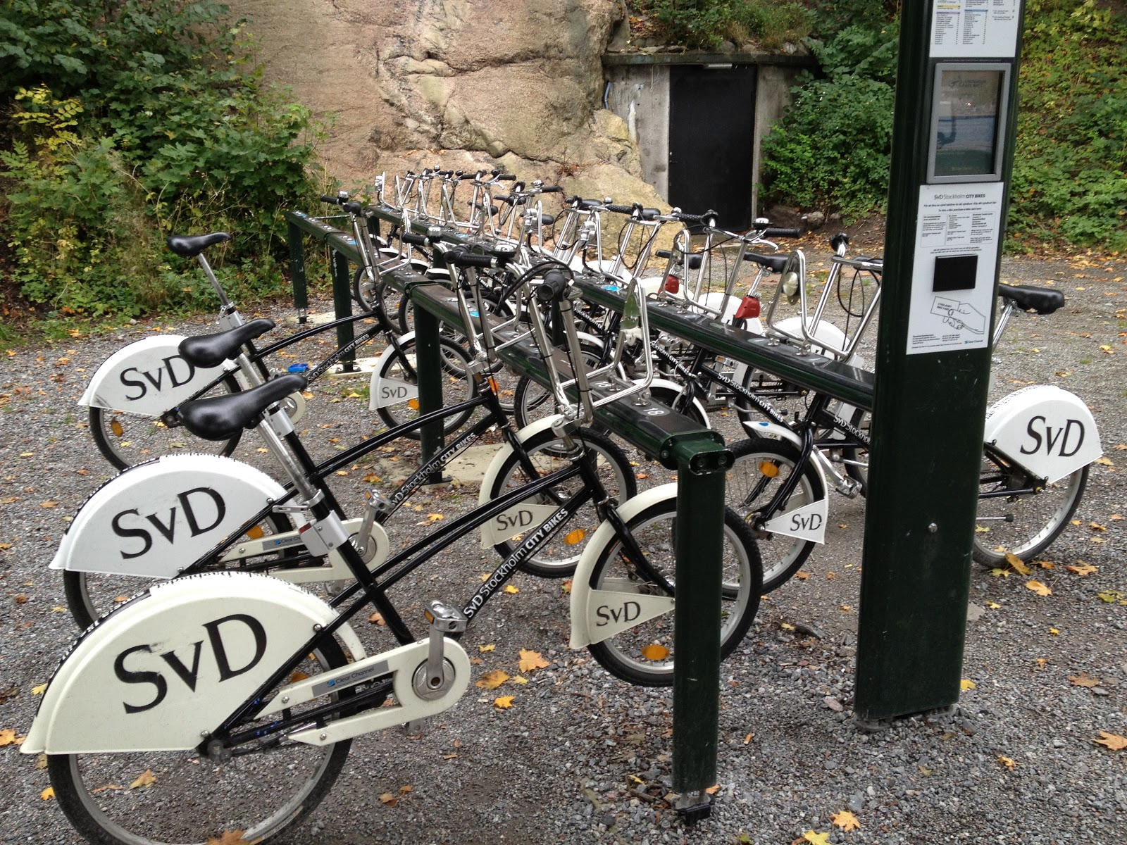 bikes locked to bike stand in Stockholm
