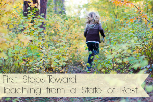 First Steps Toward Teaching from a State of Rest