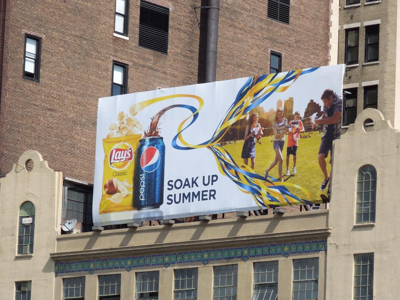 Lays Pepsi Soak up Summer billboard