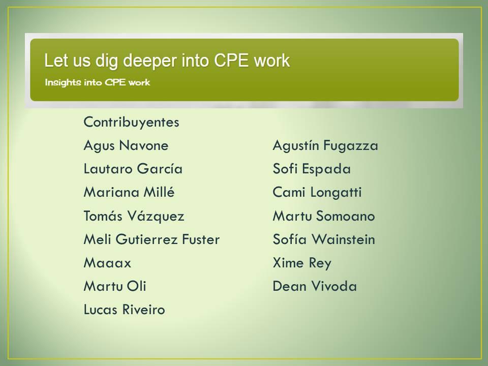 Blog CPE 2016