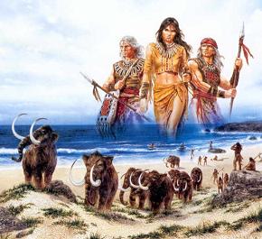 Появление натуральных чисел. Охотники на мамонтов. Математика в древности. Математика для блондинок.